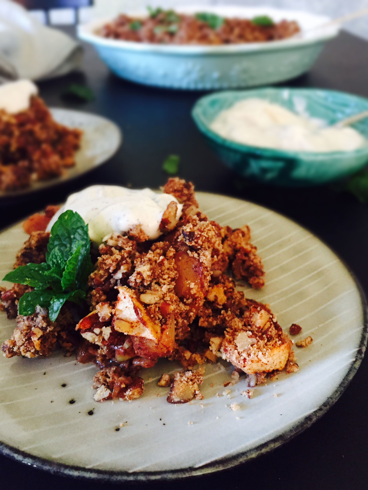 how to make gluten free crumble
