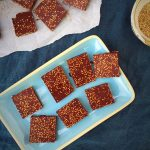 Chocolate bark with sesame seeds. What a perfect combination! --> MyCopenhagenKitchen.com