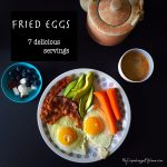 Easy breakfast you can make in no time! Fried eggs in 7 delicious servings. LCHF, low carb high fat and paleo --> MyCopenhagenKitchen.com