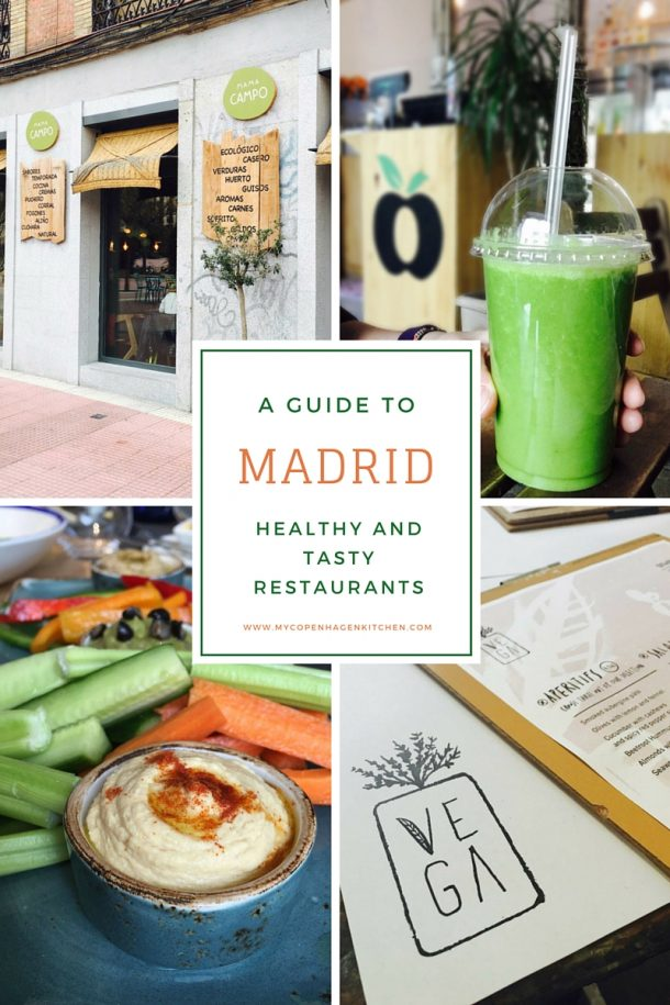 Guide to healthy and tasty restaurants in Madrid