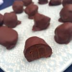 Double chocolate truffles - only 4 ingredients. Perfect for New Year's Eve! --> MyCopenhagenKitchen.com