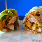 Healthy lunch wrap with chicken. LCHF, paleo, gluten free and dairy free --> MyCopenhagenKitchen.com